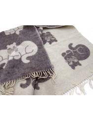 Wool blanket - cats