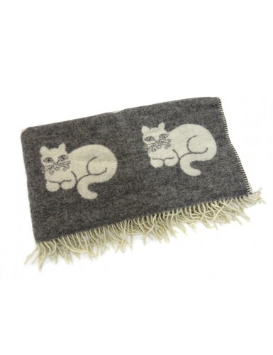 Wool blanket - cats