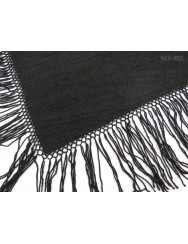 Blanket or small black shawl with fringes