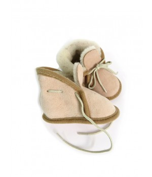 Baby's slippers in sheepskin leather