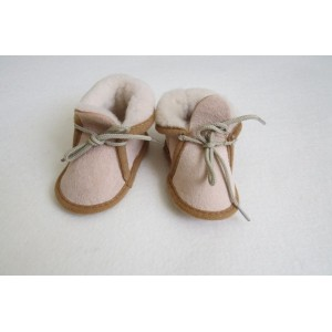 Slippers in sheepskin leather for babies and children