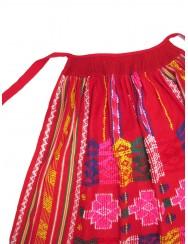 Red handloom apron