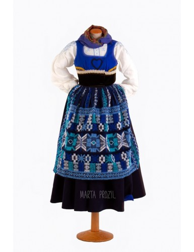 Traditional sunday costume - navy blue