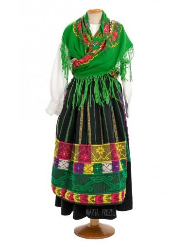 Green lavradeira costume from Geraz do Lima