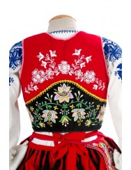 Red lavradeira costume from Santa Marta