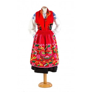"""Red lavradeira costume """"roses"""""""