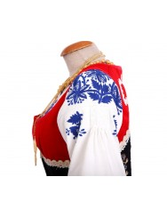 Red lavradeira costume - floral apron
