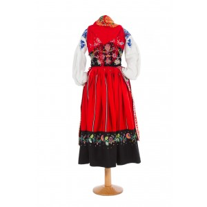 """Red lavradeira costume """"3 roses"""" apron"""