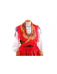 "Red lavradeira costume with ""grapes"" apron"