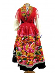 Red lavradeira costume - two roses apron