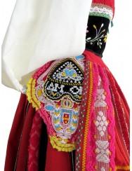 Red lavradeira costume from Santa Marta
