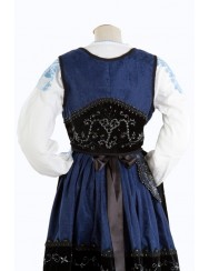 Blue costume of mordoma