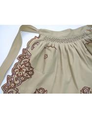 Cutwork apron - beige