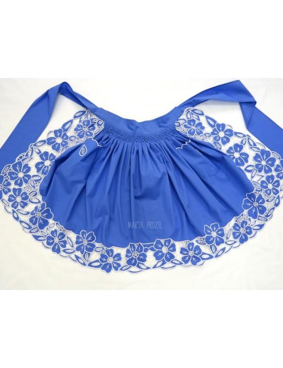 Cutwork apron - blue