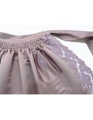 Cutwork apron - pink