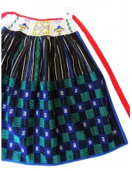 Checked handloom apron - blue