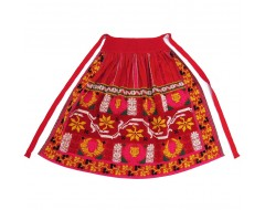 Lyre apron - red