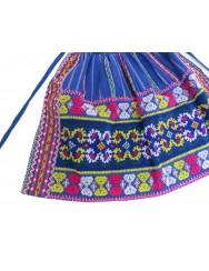 Blue apron with vegetalist pattern