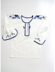 Traditional blouse embroidered in blue - 18 to 24 months