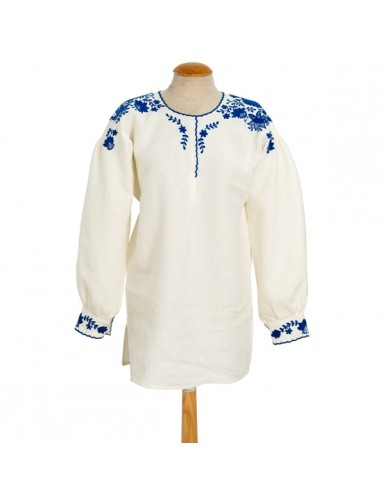 Traditional blouse embroidered in blue