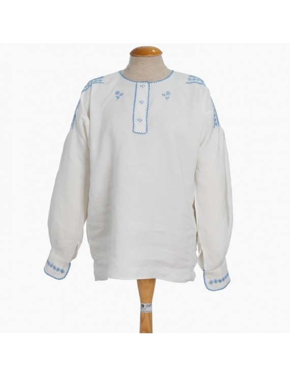 Mordoma blouse embroidered in light blue