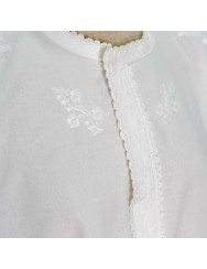 Traditional blouse embroidered in white