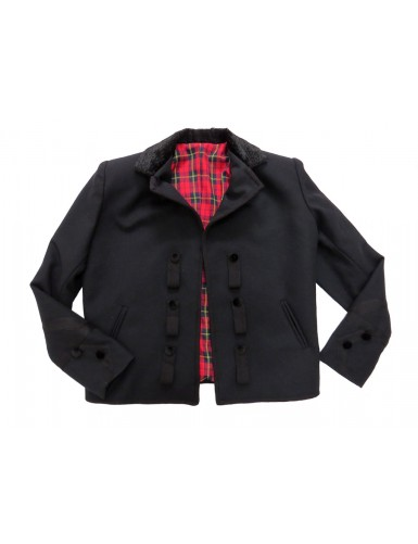 Traditional black jacket for men