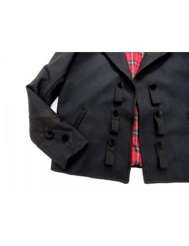 Traditional black jacket for men