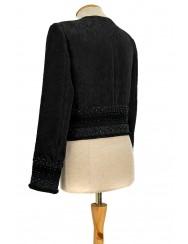 Women's jacket in black brocade - L