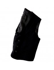 Crossover wool waistcoat for men