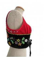 Red vest embroidered with beads