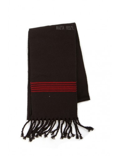 Traditional black sash with red stripes