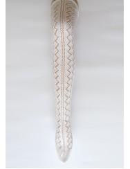Knitted lace socks - diamond pattern