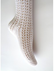 Knitted lace socks
