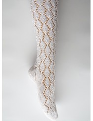 Knitted lace socks -  shells