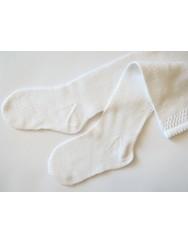 Knitted socks plain pattern