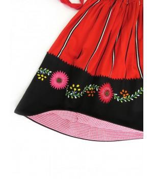 Red lavradeira skirt