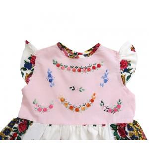 Baby girl dress with viana scarf