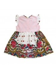 Baby girl dress with viana scarf