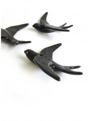 Set of 3 Portuguese Black Swallows