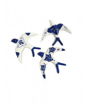 Swallow birds - white and blue