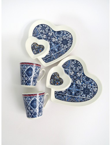 Set of 2 coffee cups - hearts