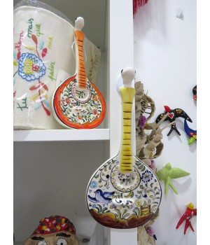 Faience guitars hand painted