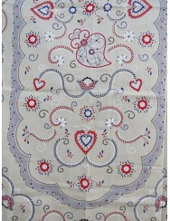 Twill fabric towel printed with hearts - 2.5 M