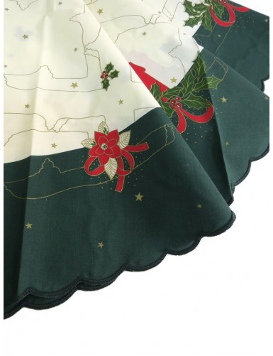 Christmas tablecloth - round with candles