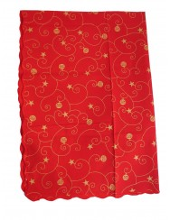 Red christmas tablecloth - 3 M