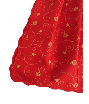 Red christmas tablecloth - 2,5 M