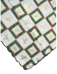 Green and golden Christmas tablecloth - 3 M long