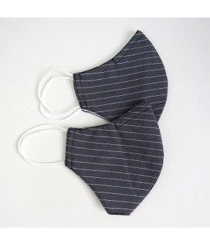 Set of 2 nozzle masks - grey with stripes