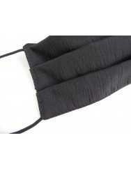 Set of 2 black cotton masks